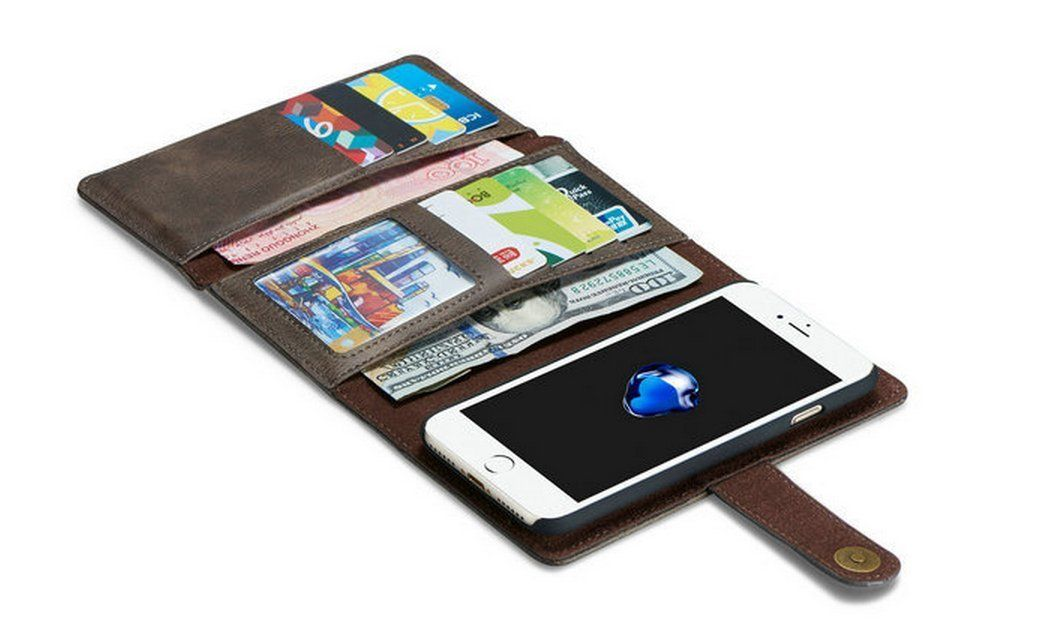 High capacity iphone wallet iphone leather case wood