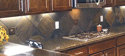slate tile kitchen backsplash 34 hickory cabinets with copper   this is the backsplash in my dream kitchen along with the under      rh   pinterest com