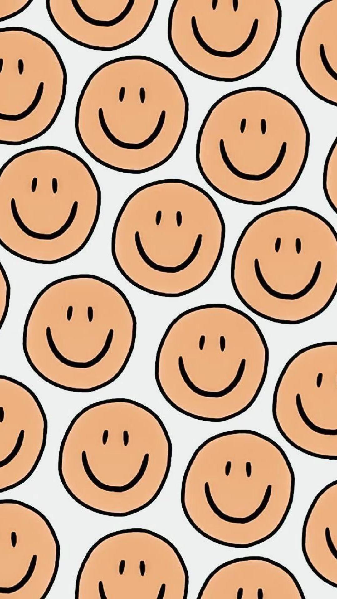 smiley iphone wallpaper / aesthetic wallpaper