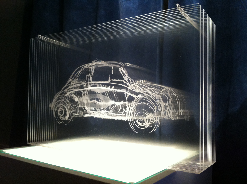 Fiat 500 Sculpture Steve Clarkson 16 Layers Of Laser