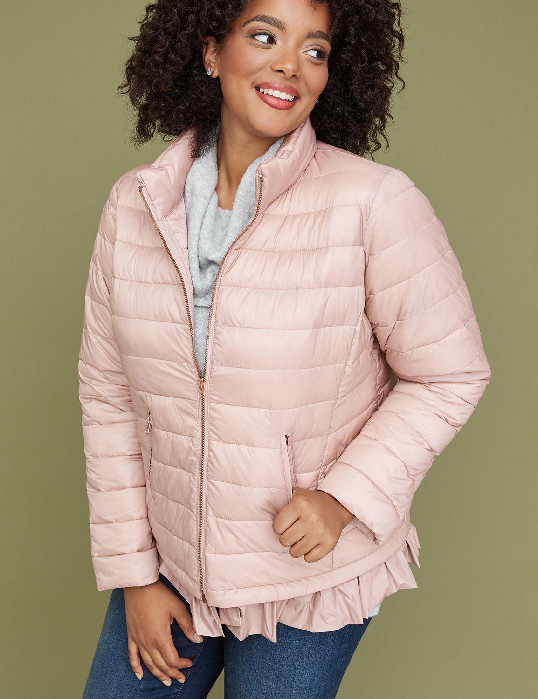 Peplum Packable Puffer Jacket With Thermoplume Technology Blush Lane Bryant Puffer Jackets Plus Size Puffer Coat Jackets [ 1500 x 1154 Pixel ]