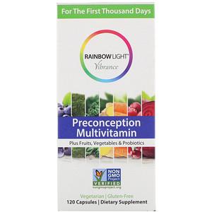 Rainbow Light Vibrance 임신 전 종합 비타민 120 캡슐 In 2020 Prenatal Multivitamin Rainbow Light Multivitamin