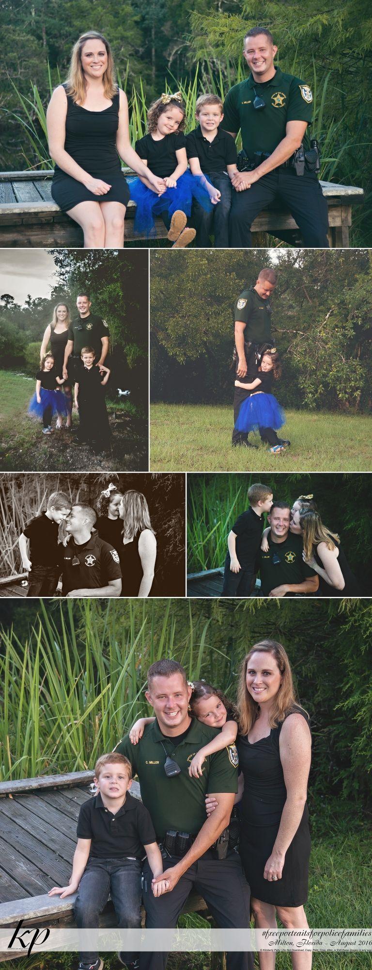 free portraits for police families 2016 milton florida