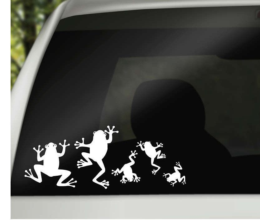 Frog Family Car Window Vinyl Decals