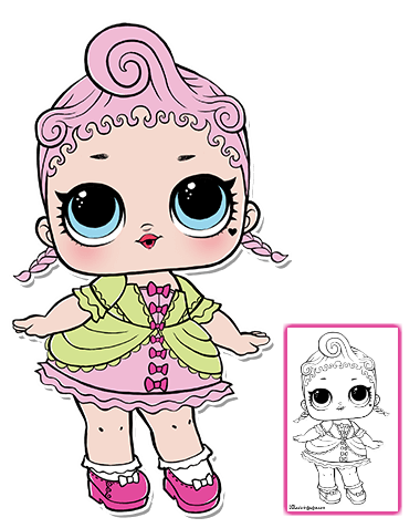 Color Your Favorite Lol Surprise Doll Lol Dolls Coloring Pages Baby Binky