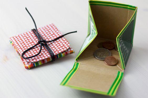 so geht das geldbeutel aus tetra pak ganz einfach selbst basteln upcycling tetrapaks. Black Bedroom Furniture Sets. Home Design Ideas