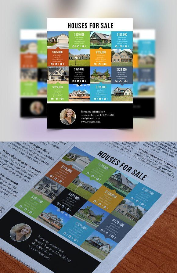 Multi Listing Real Estate Flyer Powerpoint Templates Powerpoint