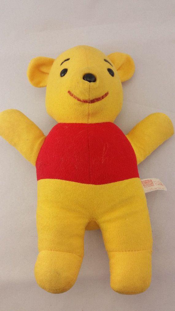 Vintage Sears Winnie The Pooh Stuffed Animal Toy 11 5 Etsy Pet Toys Bear Plush Vintage Toys