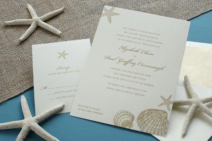 Seashell Wedding Invitations Brides Bridal Paper