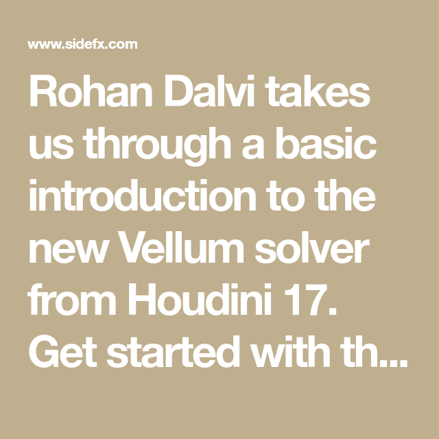 Rohan Dalvi takes us through a basic introduction to the new Vellum