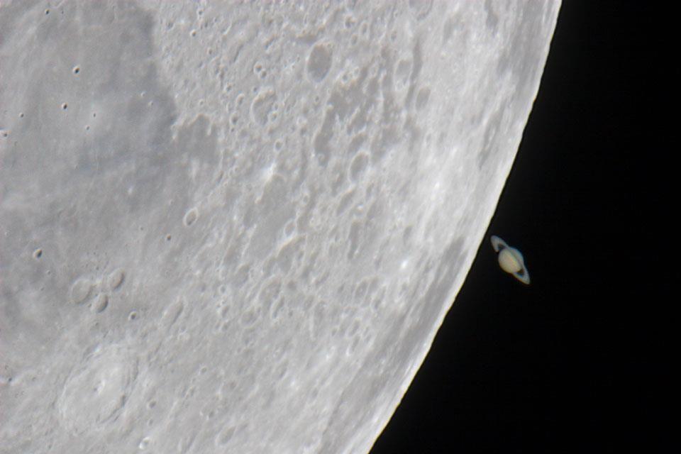 The moon and Saturn, 2007.  Source:http://apod.nasa.gov/apod/astropix.html Image Credit & Copyright: Jens Hackmann