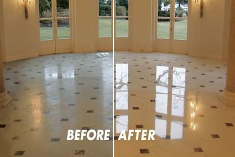 Marble Sanding Polishing Before And After Floor