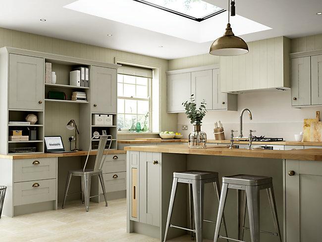Kitchen Gallery Wickes.co.uk in 2020 Sage kitchen