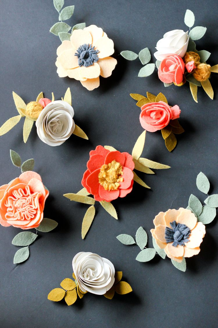 Diy felt flowers tutorial these flower are so pretty for headbands