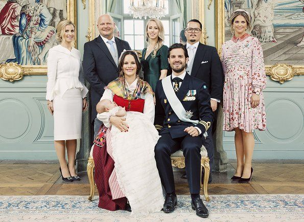 Official baptism photos of Prince Gabriel were published
