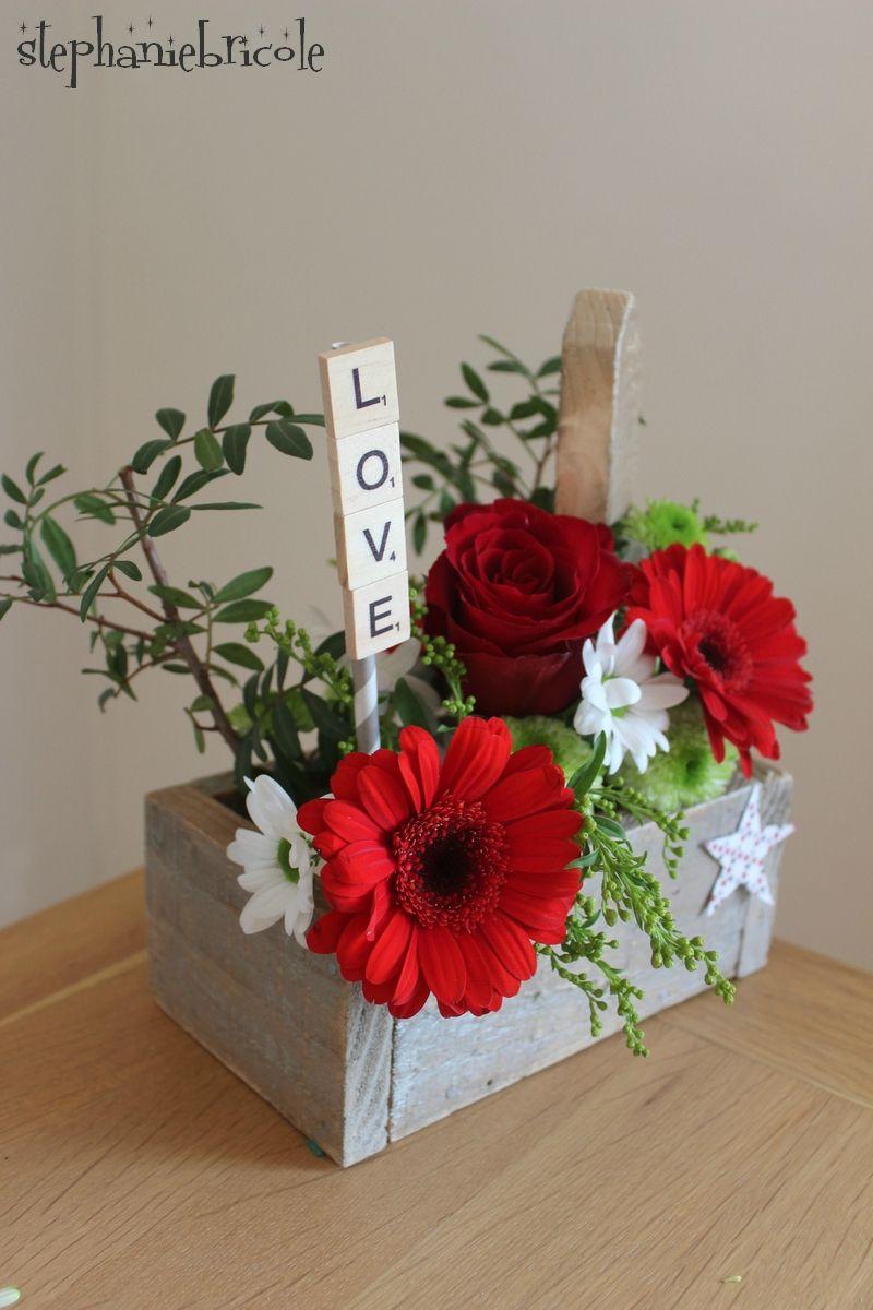 diy bois de palette et mousse florale petit bouquet le. Black Bedroom Furniture Sets. Home Design Ideas