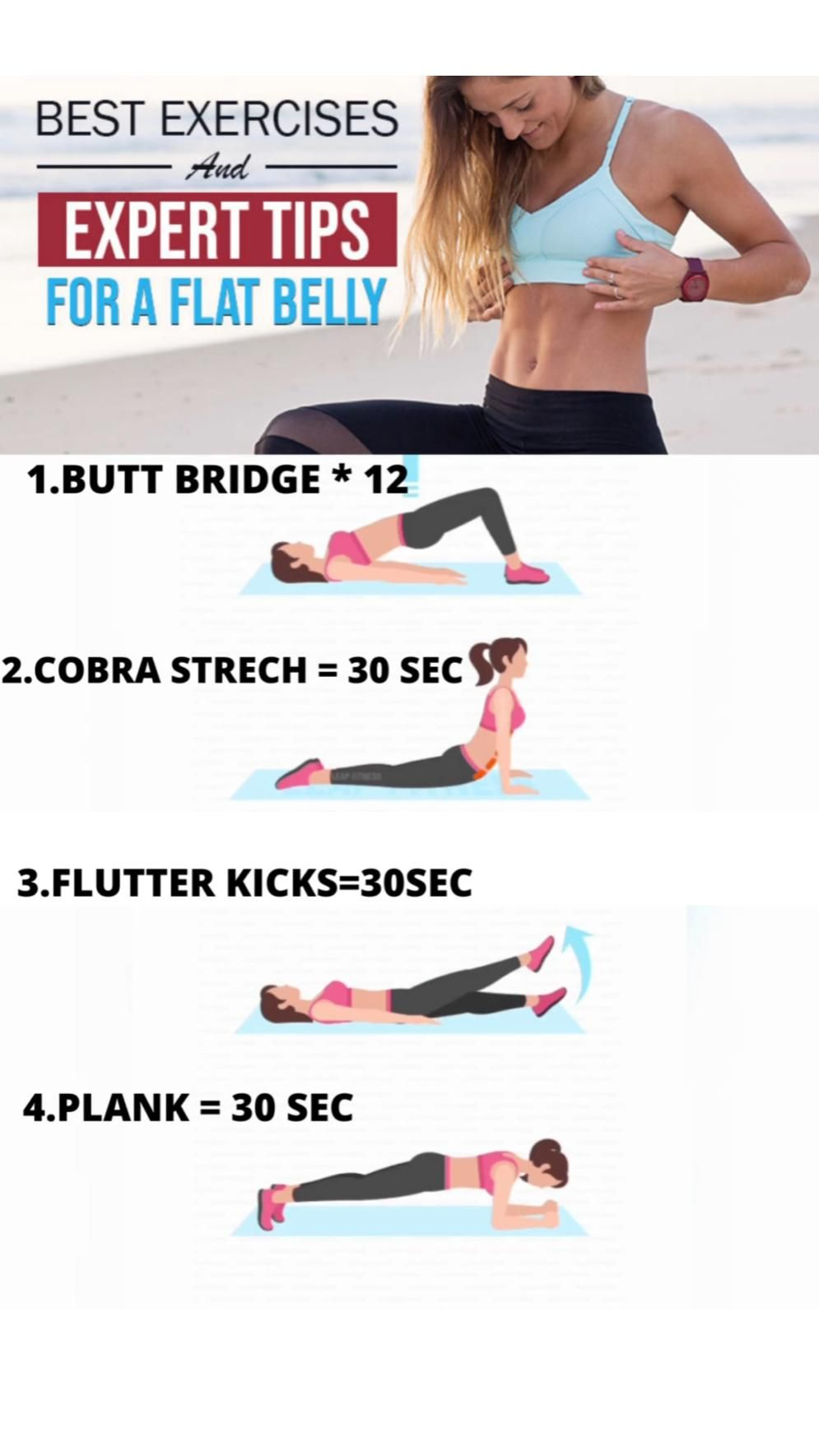 BEST EXERCISES FOR FLAT BELLY