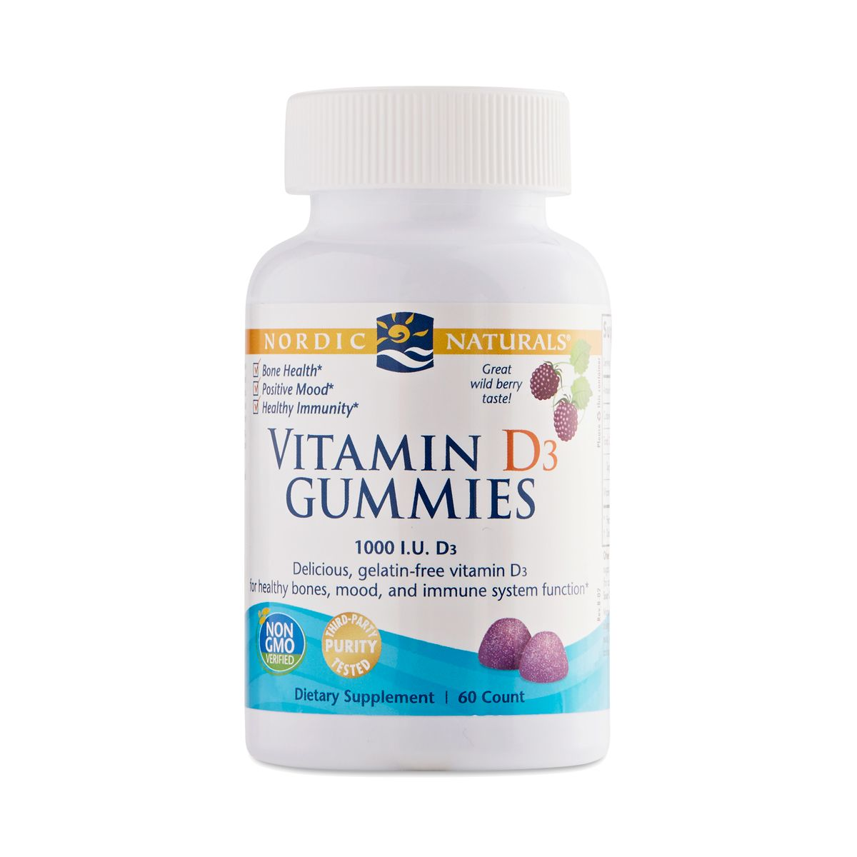 Vitamin D3 Gummies Wild Berry In 2020 Natural Vitamins Wild Berry Vitamins