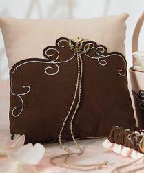 Brown & Blush Ring Bearer Pillow, Ring Bearer & Flower Girl in Western Wedding by Cattle Kate