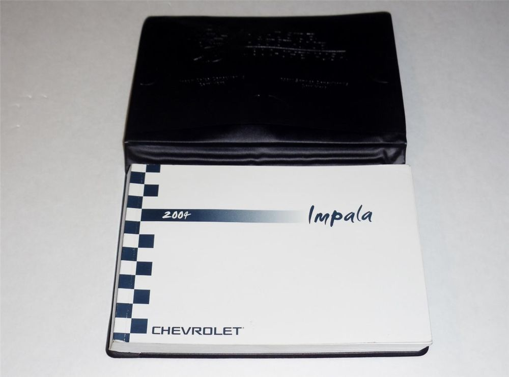2004 Chevrolet Impala Owners Manual Book Set 2004 Chevrolet