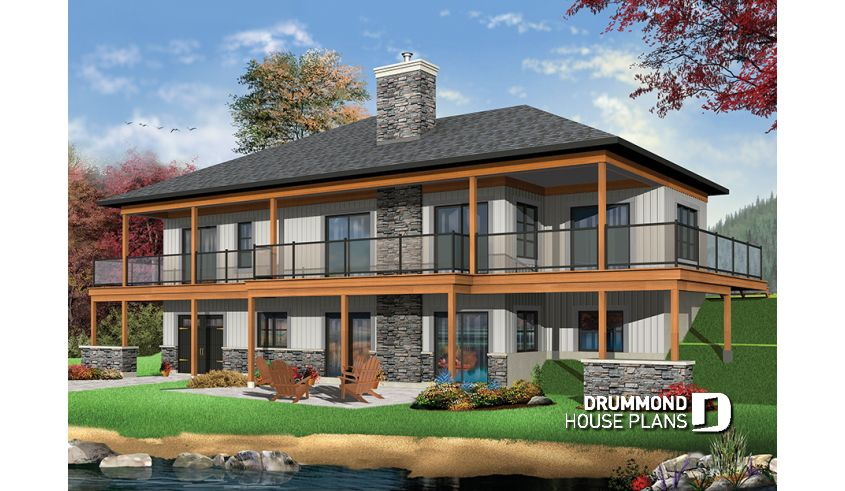 Discover The Plan 3967 The Belvedere Which Will Please You For Its 5 4 Bedrooms And For Its Cottage Chalet Cabin Styles Rustic House Plans Craftsman Style House Plans Ranch House Plans