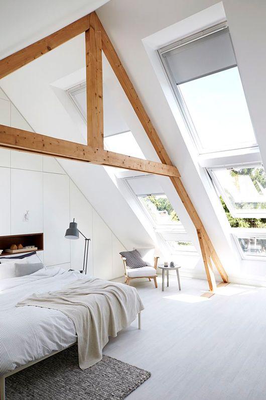exposed a-frame wood-beamed bedroom ceiling / sfgirlbybay   My ...