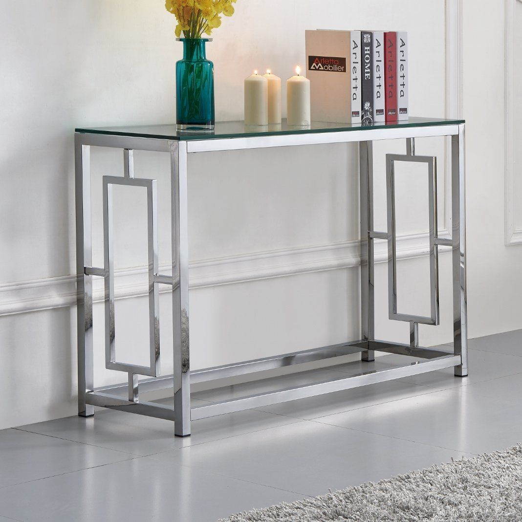 Tameka Glass Console Table Console Table Glass Console Table Table