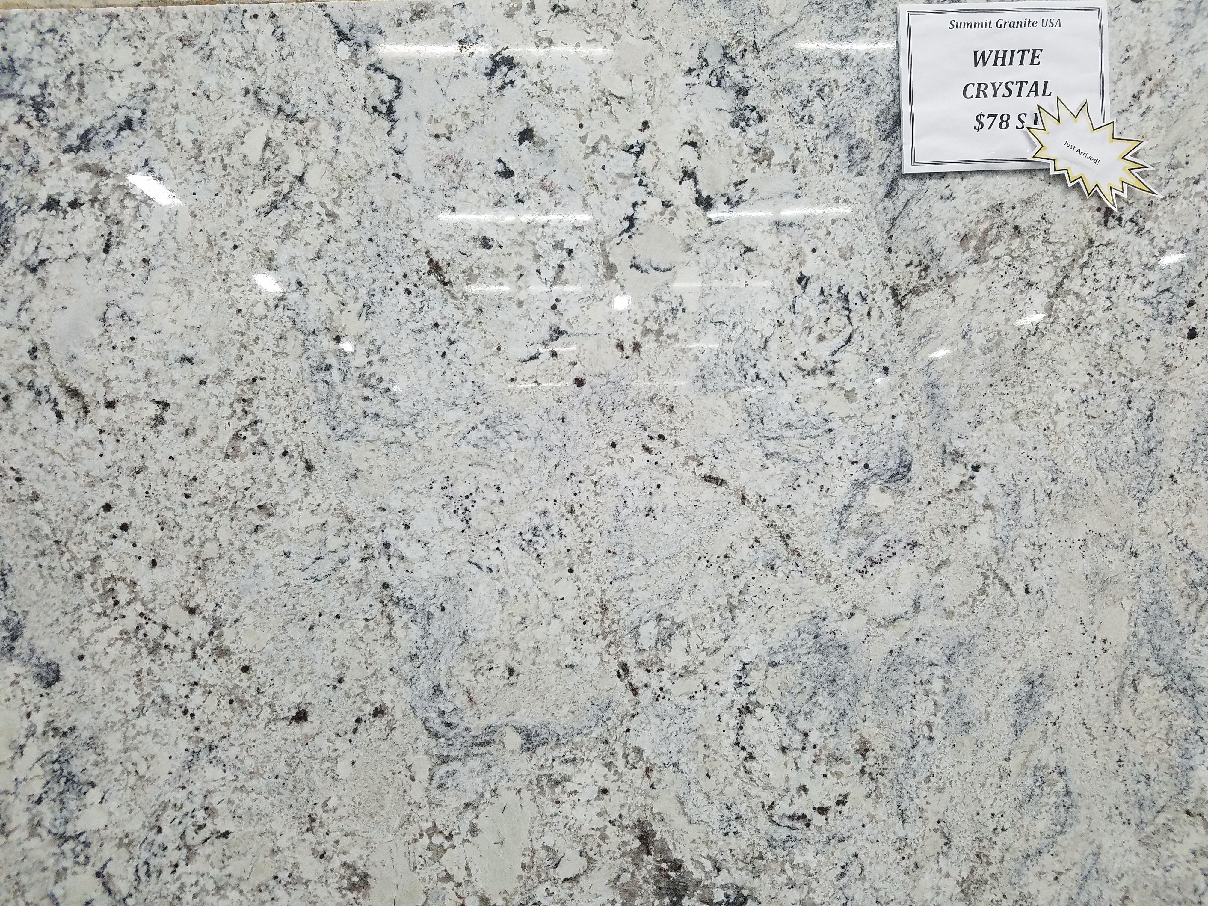 White Crystal Granite Slab Custom Countertops Granite Slab Granite