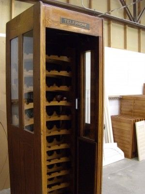 Phone Booth Wine Cabinet What A Clever Idea Lots Of Cool Other Salvage Ideas On My Storage Solutions Board