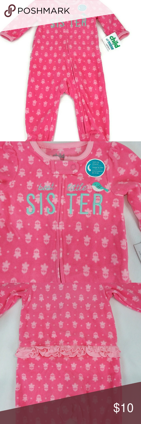90dc207f56ad Carter s Baby Girl One-piece Footed Pajamas NWT