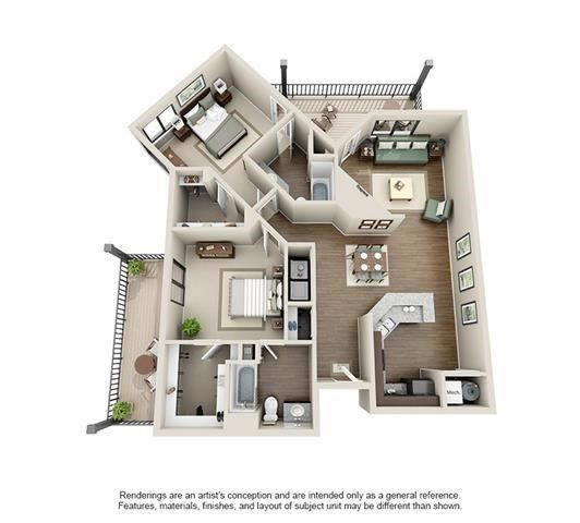 Floor Plans Of Ashford Belmar In Lakewood, CO