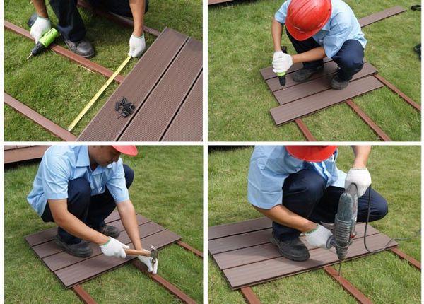 Convert Wood Deck To Composite Deck With Images Diy Deck Plastic Flooring Diy Flooring