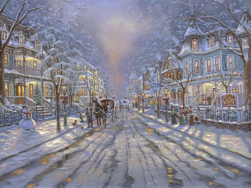 Christmas in Cape May by Robert Finale ~ New Jersey | Art of ...