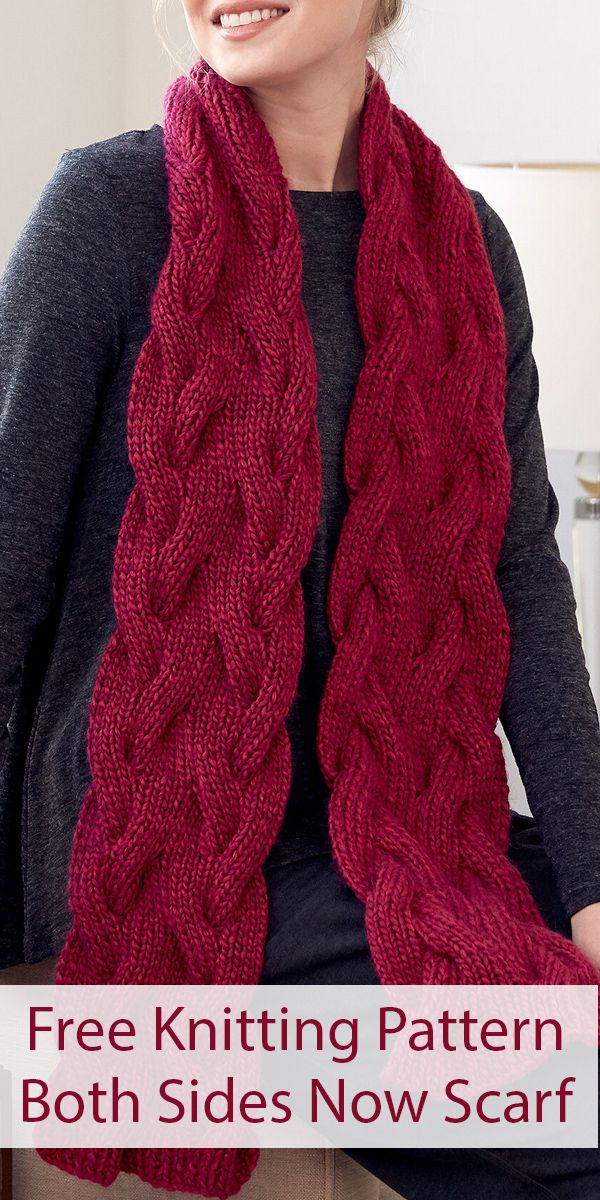 Free Knitting Pattern for Reversible Both Sides Now Scarf ...