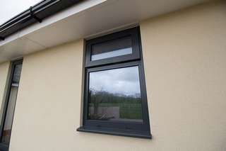 Bathroom Windows Replacement replacement bathroom window in grey (ral 7016) complete with