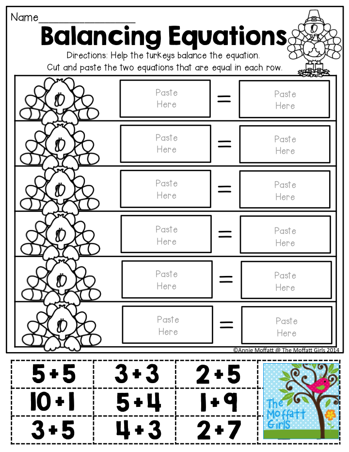 image relating to Cross Sums Printable identified as Balancing Equations- Slice and paste the 2 equations that