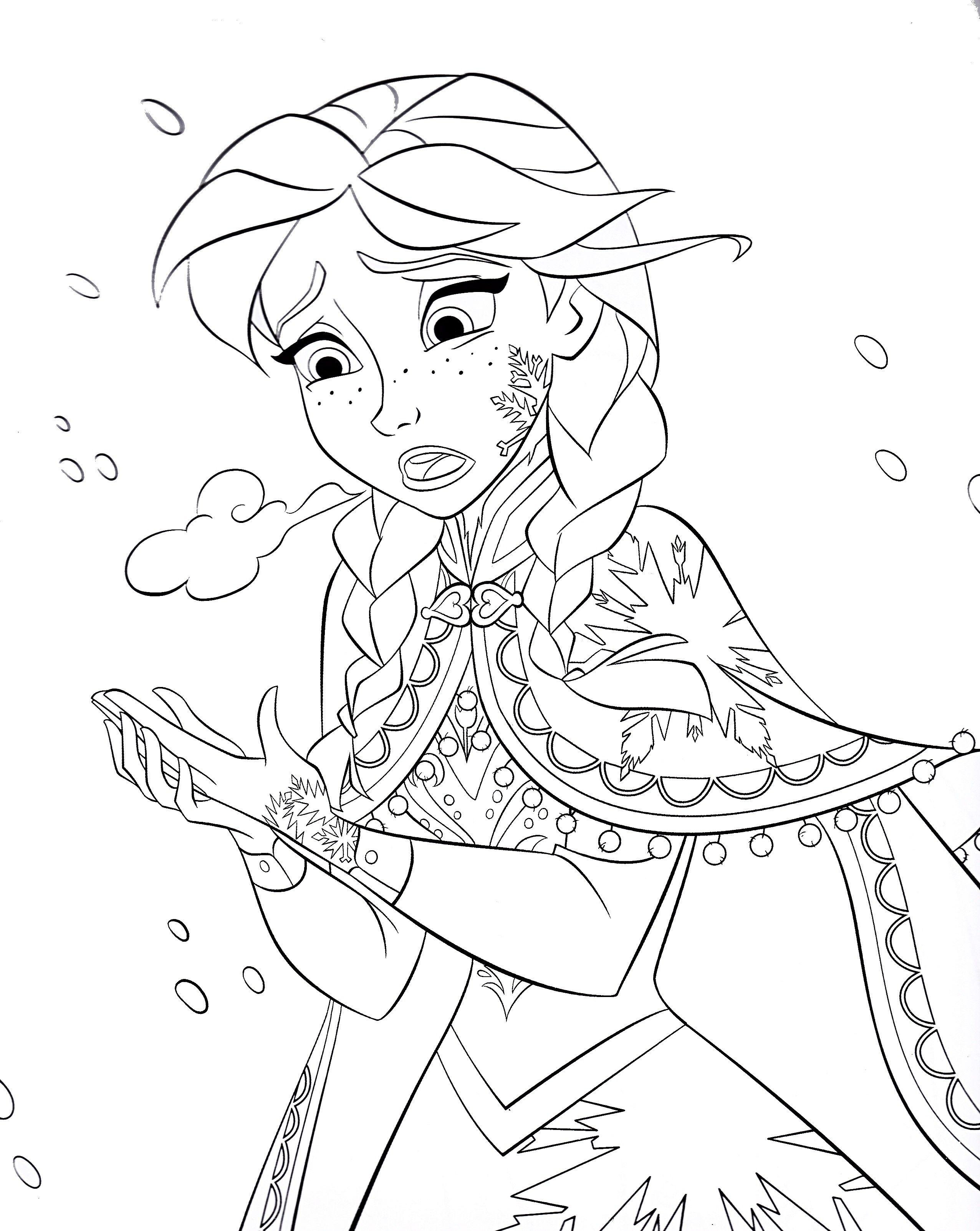 Disney Coloring Pages Anna Frozen Elsa coloring pages