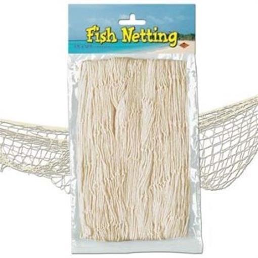 499 Fish Netting Natural White Nautical Cruise Party Birthday