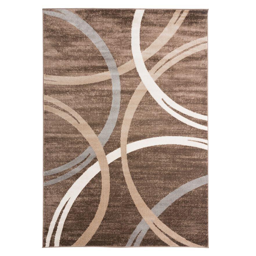 World Rug Gallery Toscana Modern Abstract Circles Rug