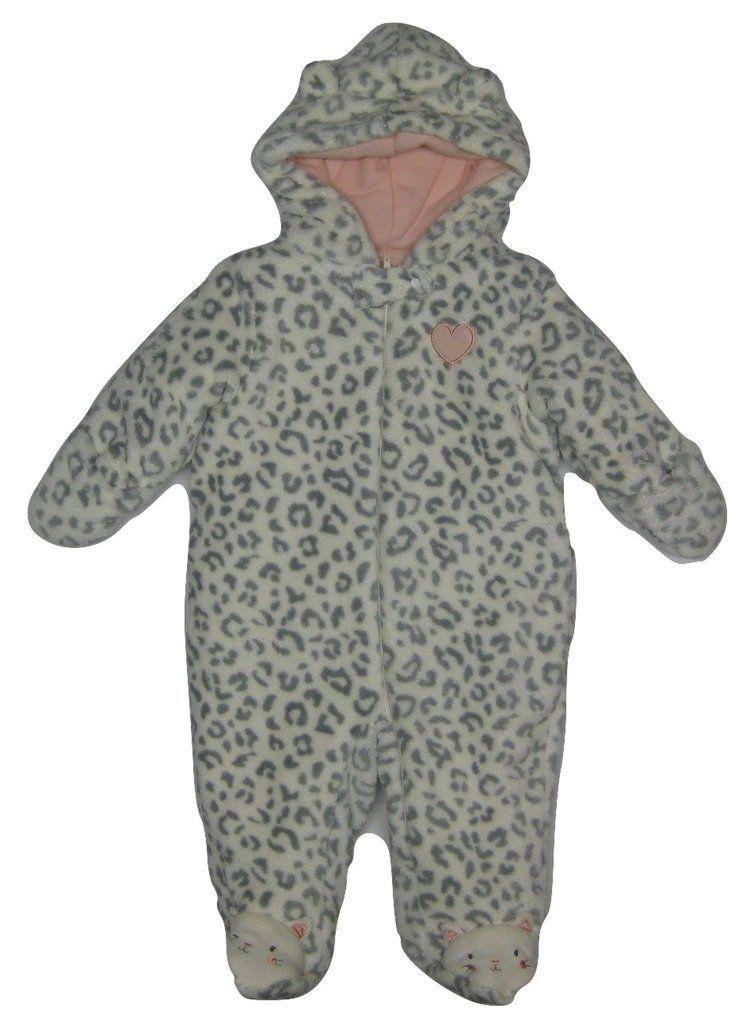 d6163b218 Little Wonders Newborn Girl's Hooded Fleece Pram Suit, Heart, 3-6 Months.