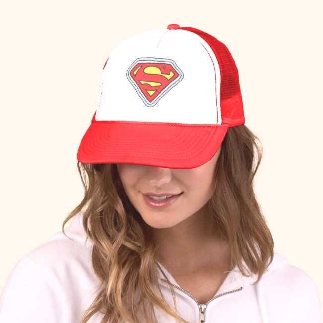 Supergirl Comic Logo Trucker Hat ,You can find Supergirl and more on our website.Supergirl Comic Lo