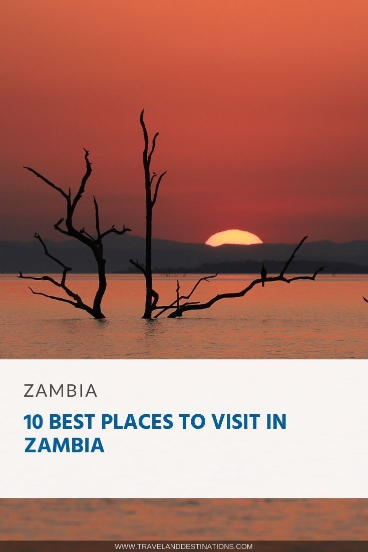 Discover some of the best and most incredible places to visit in Zambia, Africa. From national parks, natural landmarks, cities and more.    #zambia #africa #travel #travelanddestinations #travelideas #inspiration #travel #explore #placestovisit #wanderlust