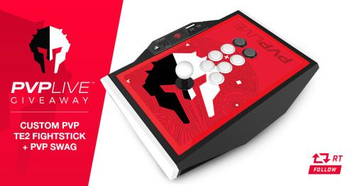 Customized Madcatz TE2 PVP Live Fightstick (PS3/PS4) & Swag