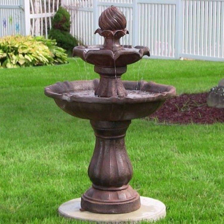 2 Tier Garden Water Fountain Kit Solar Technology Pump Patio Outdoor Vintage Set 334 08end Date E Water Fountains Outdoor Fountains Outdoor Solar Fountain