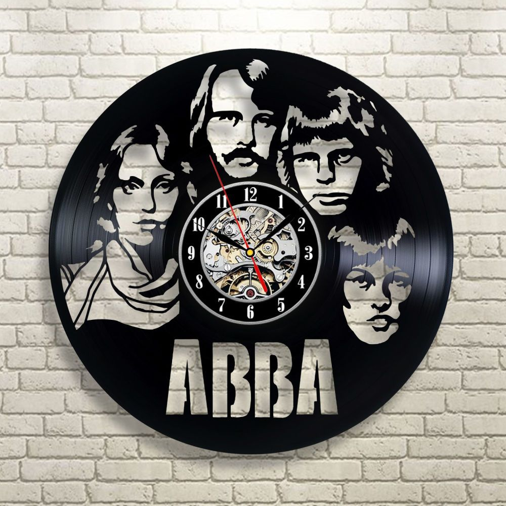 Silhouette icon team abba vinyl lp record wall clock personalized silhouette icon team abba vinyl lp record wall clock personalized 12 inch clock home amipublicfo Choice Image
