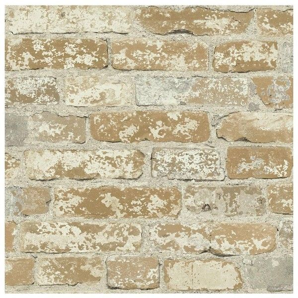 Charmant Roommates Faux Brick Peel U0026 Stick Wall Decal ($42) ❤ Liked On Polyvore  Featuring