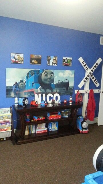 Thomas The Train Theme In 2019 Boys Train Room Train Room