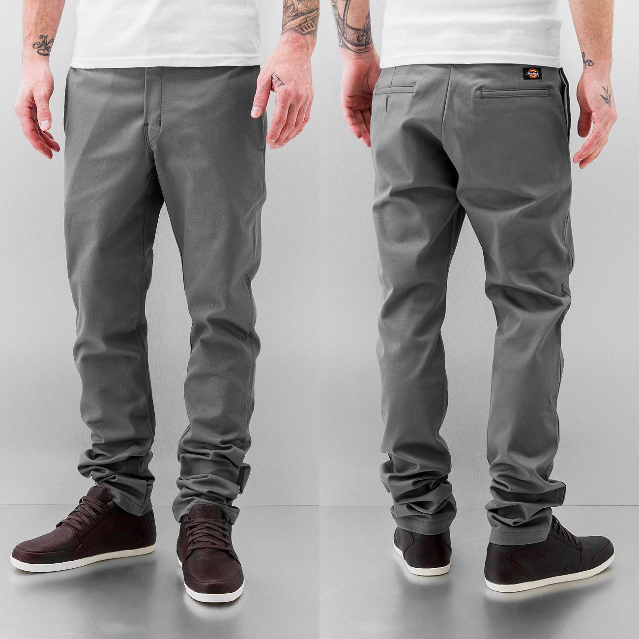 928f0b684aefe Dickies Slim Skinny Work Pants Gravel Grey   Mens Clothing ...