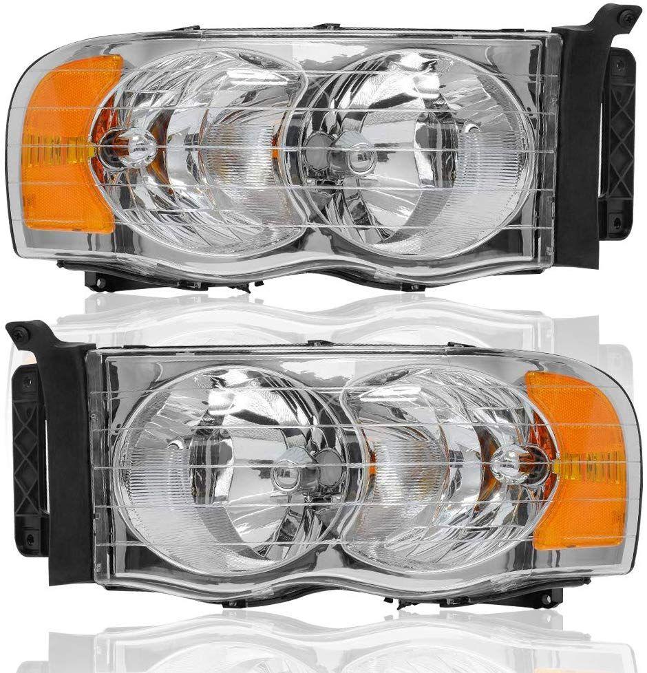 Jsboyat Headlight Assembly Kit Replacement For 02 05 Dodge Ram 1500 2500 3500 Pickup Truck Dodge Ram Dodge Ram Pickup Dodge Ram 1500