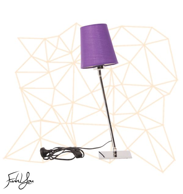 Graeme Table Lamp Purple. www.funkyou.com.au